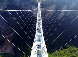 glass floor world u0027s longest and highest glass bridge opens in china