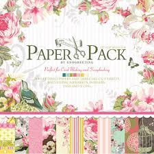 12 x12 paper pack vintage flowers scrapbooking craft paper pad