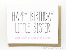 funny happy birthday wishes for little sister birthday decoration