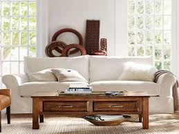 furnitures pottery barn slipcovered sofa elegant furniture