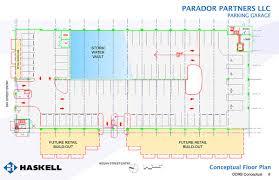 Parking Building Floor Plan Retail Less Parador Parking Garage Up For Ddrb Appoval Metro