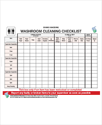 Bathroom Cleaning Checklist Template 43 Checklist Templates Examples U0026 Samples