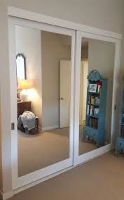 Sliding Glass Closet Door Awesome Sliding Mirrored Closet Doors For Bedrooms Collection With