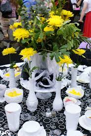 dimples and tangles spring luncheon stage and table decoration