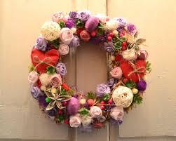 front door hanging basket summer decorations wreaths