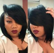 bob haircuts with feathered sides quickweave bob haircut with deep side part projects to try