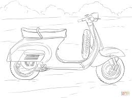 scooter coloring page free printable coloring pages