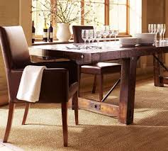 dining room dark wood dining table with gabberts furniture and