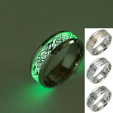 titanium gold rings images Titanium dragon tattoo ring fluorescent light finger rings band jpg