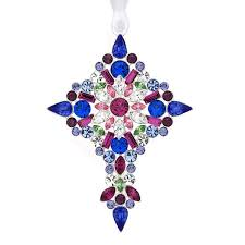 2012 lunt jeweled cross silver ornament silver superstore
