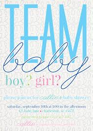 team baby gender neutral baby shower invitation from