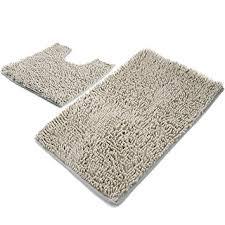 Light Grey Shag Rug Amazon Com Vdomus Microfiber Bathroom Contour Rugs Combo Set Of