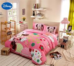 girls bedroom bedding minnie mouse bedding cartoon bed sheet set cotton duvet cover