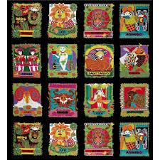 the zodiac metallic zodiac signs multi discount designer fabric