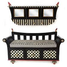 mackenzie childs courtly stripe wall mount coat rack black