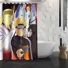 Shower Curtain Custom Custom Naruto Anime Shower Curtain Waterproof Fabric Shower