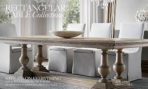 Rectangular Table Collections RH - Restoration hardware dining room tables