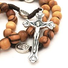 christian rosary olive wood rosary bethlehem holy soil christian gift from