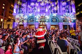 the city lights up christmas city of perth
