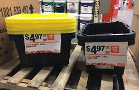 home depot spring black friday store set up hdx 12 gallon tough totes only 4 97 at the home depot reg
