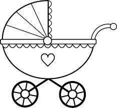baby carriage coloring page glum me