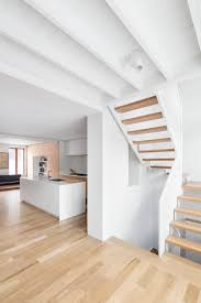 architecture interior montreal canada home by microclimat interior montreal canada home by microclimat architecture design decoration using white wooden loft flooring including floating oak wood butcher block