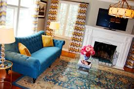 peacock blue sofa living room modern with floor lamps living room
