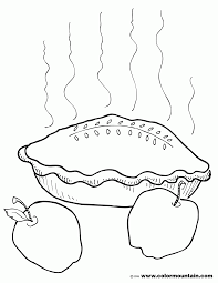 apple pie coloring page coloring home