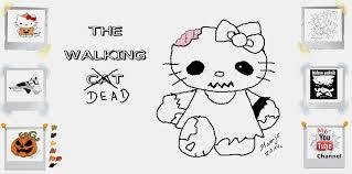 draw zombie kitty walking dead cat zeichnen