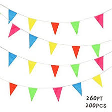 banner flags outdoor pennant multicolor triangle