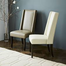 Beige Leather Dining Chairs Willoughby Leather Dining Chair West Elm