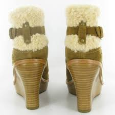 ugg wedge sandals sale uk ugg anais wedge ankle boots in chestnut