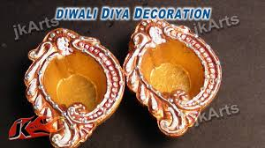 Decorations For Diwali At Home Diy How To Decorate Diwali Diya Diwali Home Decoration Ideas