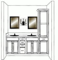 Bathroom Vanity Furniture Style by Double Bathroom Vanity With Linen Cabinet Married A Tree Hugger