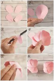 How To Make Easy Paper Flowers For Cards - paper flowers how to make them webwoud