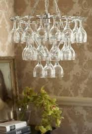Chandelier Lights Singapore Upside Down Wine Glasses Make Up This Chandelier The Stemware Is