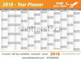 printable planner diary year planner calendar 2018 vector annual stock photo photo vector