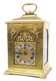 unusual brass mantel clock the movement stamped coventry astral