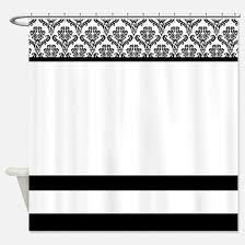 White And Black Shower Curtains Black And White Shower Curtains Cafepress