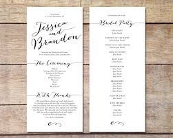simple wedding program simple wedding program customizable design simple