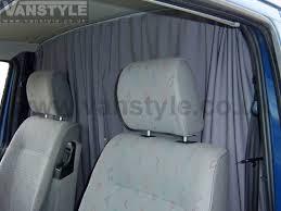 Van Window Curtains Vw T4 Tailored Curtain U2013 Cab Separation Vanstyle