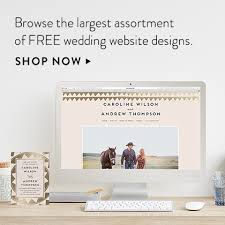 free wedding websites with free wedding websites minted