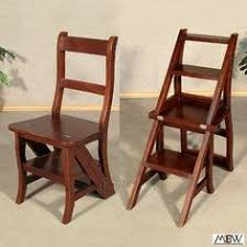 Library Step Stool Chair Combo Library Step Stool Chair Not That I Need Any More Steppies All Up