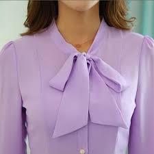 lavender blouses bow lavender blouses ol formal slim