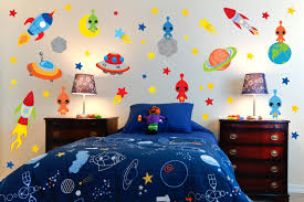 space wall murals for kids fun ideas simple wall murals for kids image of wall murals for kids theme