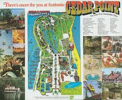 Sandusky Ohio Map by Old Cedar Point Souvenir Park Maps 1973 1974 Information Pointbuzz
