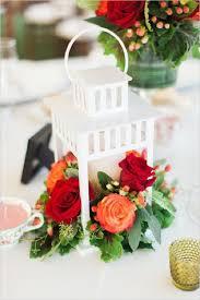 wedding centerpieces lanterns white lantern and roses wedding centerpiece deer pearl flowers