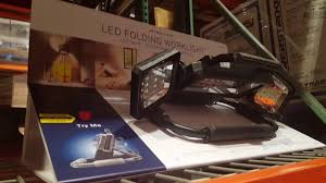 cat rechargeable led work light costco costco winplus led folding work light 35 youtube