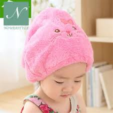 baby shower hat soft baby shower hat protect cap hair drying cap towel