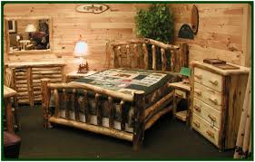 Rustic Bedroom Furniture Sets King Bedroom Bed With Railing Headboard Rustic Natural Cedar